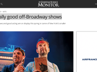 5 really good off-Broadway shows (Article in The Christian Science Monitor)
